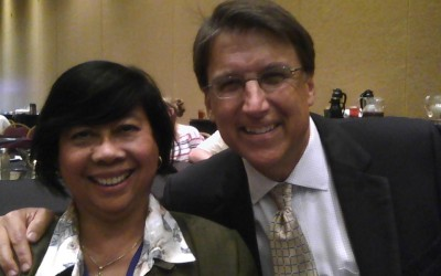 Torchlight Academy ESL Instructor Ms. Tedera with North Carolina Governor Pat McCrory