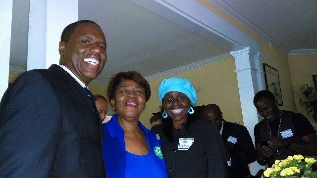 Lt. Governor, hopeful, Linda Coleman and Don and Cynthia McQueen